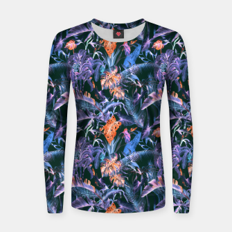 THE JUNGLE AT NIGHT I Sudadera para mujeres thumbnail image