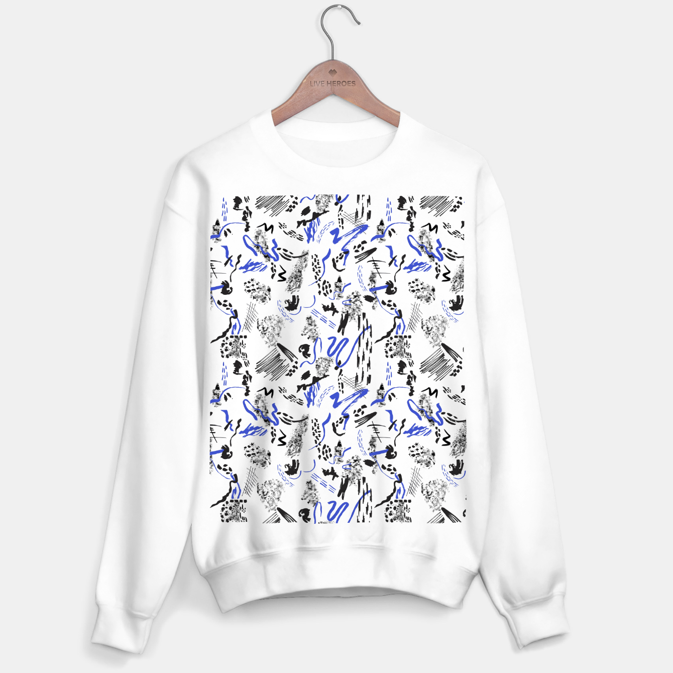 Image of Modern abstract artistic strokes Sudadera regular - Live Heroes