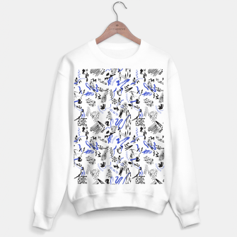 Thumbnail image of Modern abstract artistic strokes Sudadera regular, Live Heroes