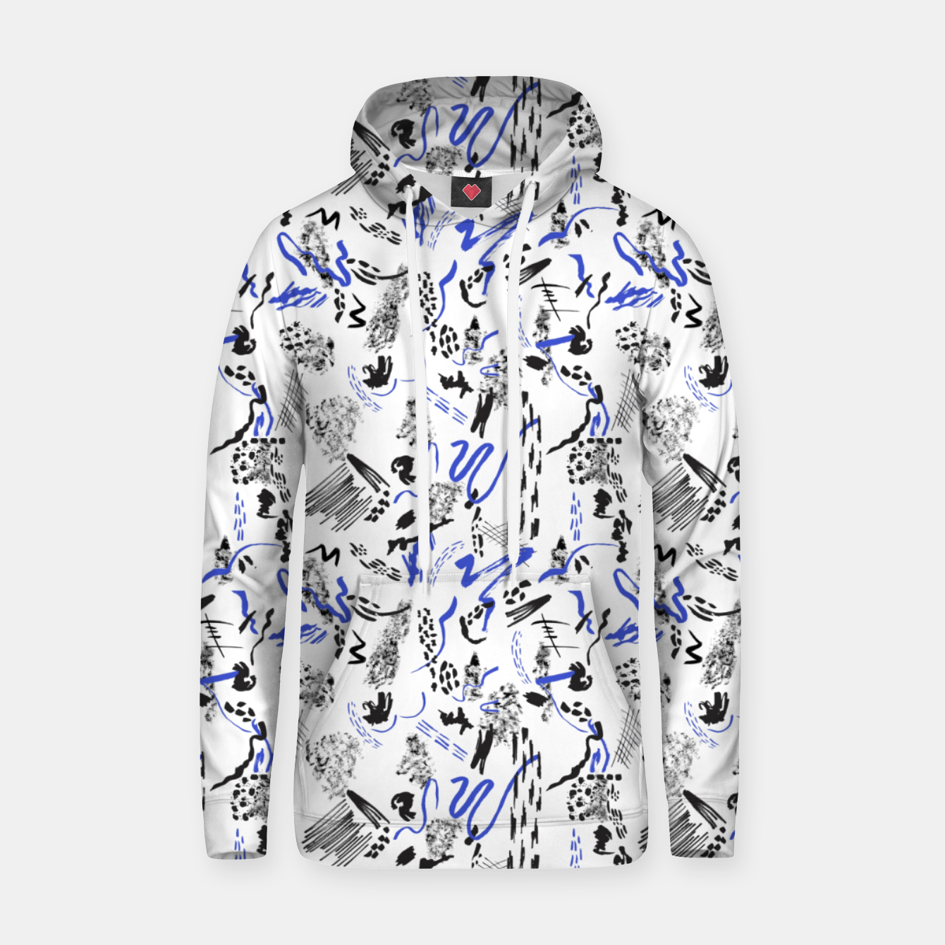 Image of Modern abstract artistic strokes Sudadera con capucha - Live Heroes