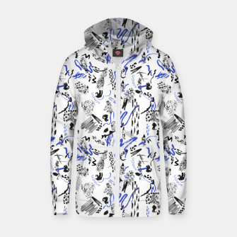 Thumbnail image of Modern abstract artistic strokes Sudadera con capucha y cremallera , Live Heroes