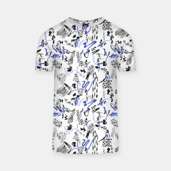 Modern abstract artistic strokes Camiseta thumbnail image