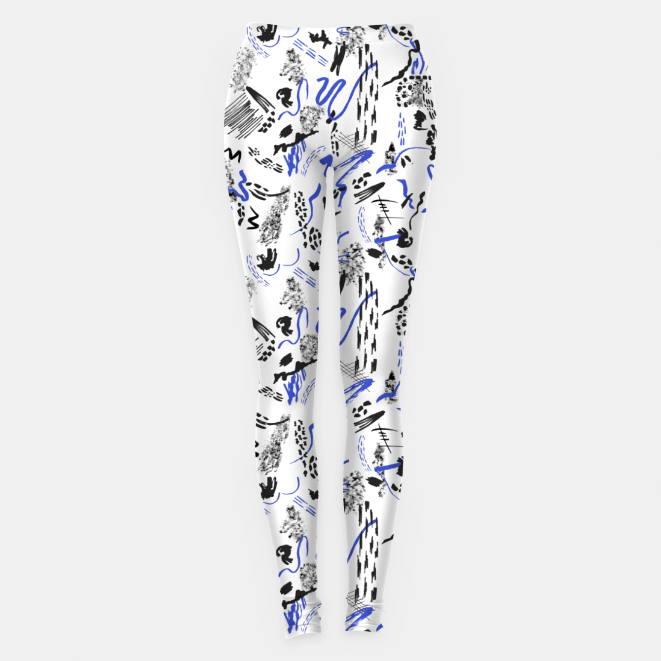 Image of Modern abstract artistic strokes Leggings - Live Heroes