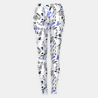 Modern abstract artistic strokes Leggings thumbnail image