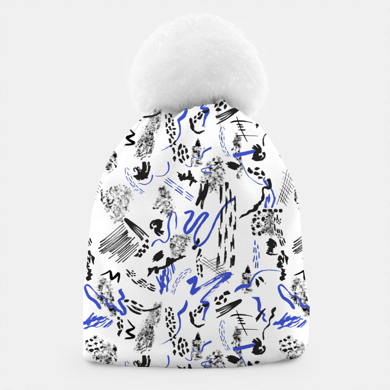 Image of Modern abstract artistic strokes Gorro - Live Heroes