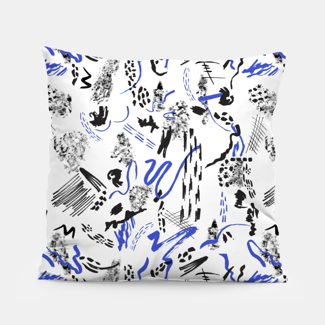 Image of Modern abstract artistic strokes Almohada - Live Heroes
