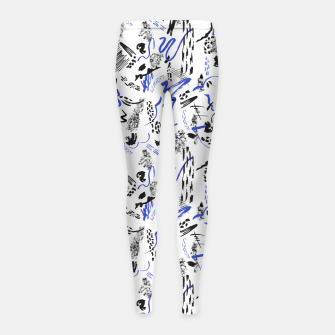 Modern abstract artistic strokes Leggings para niña thumbnail image