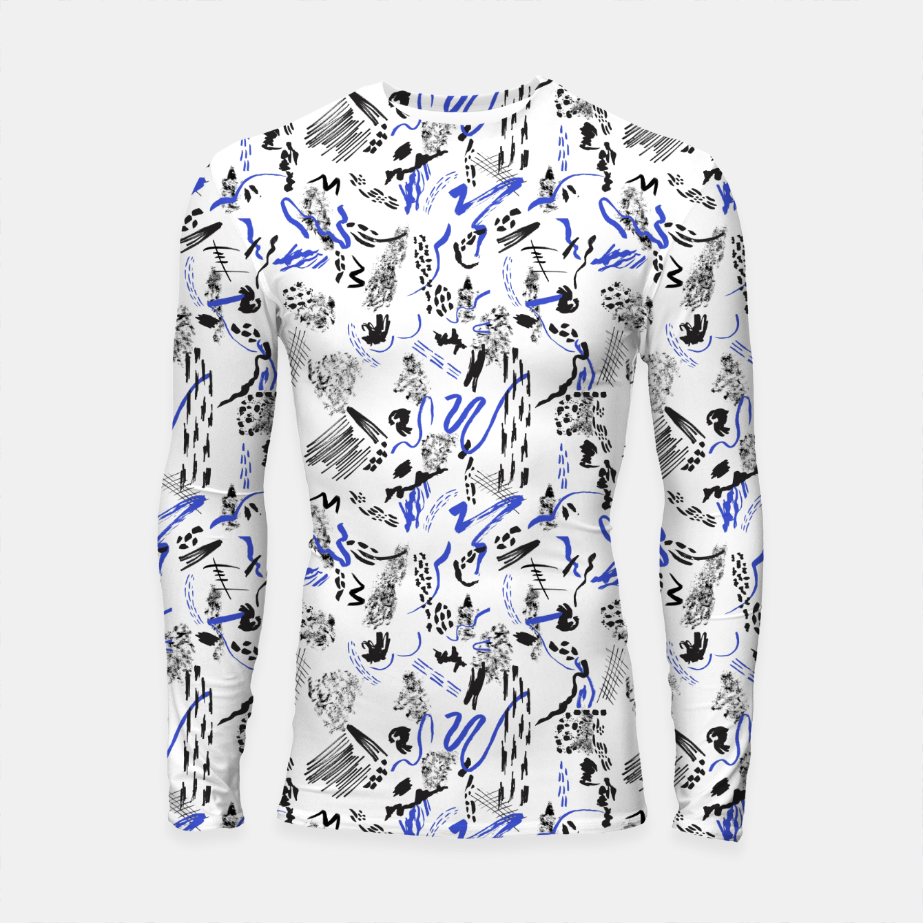 Image of Modern abstract artistic strokes Longsleeve rashguard - Live Heroes