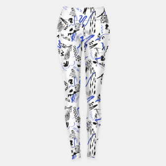 Miniatur Modern abstract artistic strokes Leggings, Live Heroes