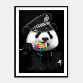Thumbnail image of LOLLY POP COP Framed poster, Live Heroes