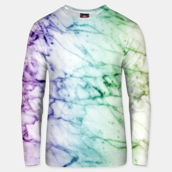 Miniaturka Abstract natural marble texture in rainbow colors Unisex sweater, Live Heroes