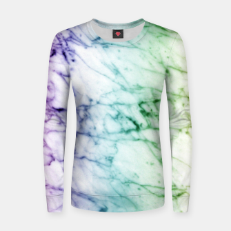 Miniaturka Abstract natural marble texture in rainbow colors Women sweater, Live Heroes