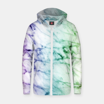 Miniaturka Abstract natural marble texture in rainbow colors Zip up hoodie, Live Heroes