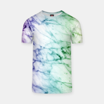 Miniaturka Abstract natural marble texture in rainbow colors T-shirt, Live Heroes