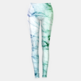 Miniaturka Abstract natural marble texture in rainbow colors Leggings, Live Heroes