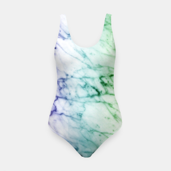 Miniaturka Abstract natural marble texture in rainbow colors Swimsuit, Live Heroes