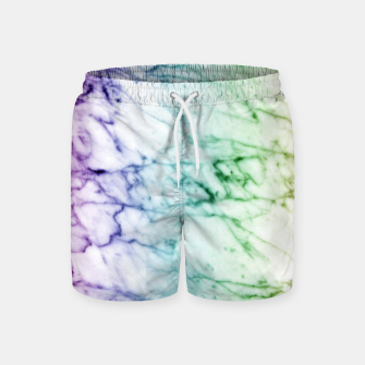 Miniaturka Abstract natural marble texture in rainbow colors Swim Shorts, Live Heroes