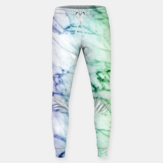 Miniaturka Abstract natural marble texture in rainbow colors Sweatpants, Live Heroes