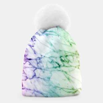 Miniaturka Abstract natural marble texture in rainbow colors Beanie, Live Heroes