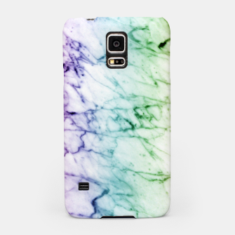 Miniaturka Abstract natural marble texture in rainbow colors Samsung Case, Live Heroes