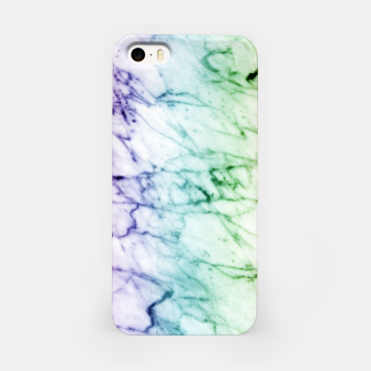 Miniaturka Abstract natural marble texture in rainbow colors iPhone Case, Live Heroes