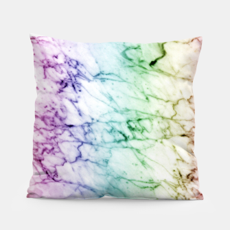 Miniaturka Abstract natural marble texture in rainbow colors Pillow, Live Heroes