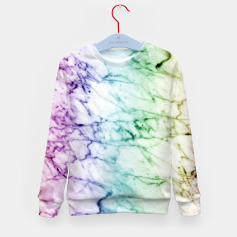 Miniaturka Abstract natural marble texture in rainbow colors Kid's sweater, Live Heroes