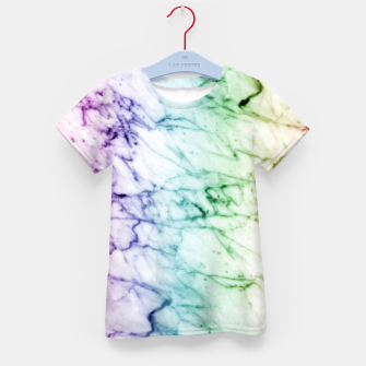 Miniaturka Abstract natural marble texture in rainbow colors Kid's t-shirt, Live Heroes