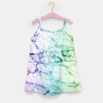 Miniaturka Abstract natural marble texture in rainbow colors Girl's dress, Live Heroes