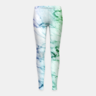 Miniaturka Abstract natural marble texture in rainbow colors Girl's leggings, Live Heroes