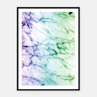 Miniaturka Abstract natural marble texture in rainbow colors Framed poster, Live Heroes