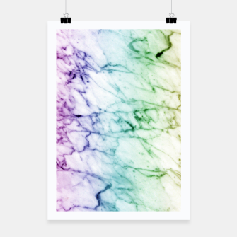 Miniaturka Abstract natural marble texture in rainbow colors Poster, Live Heroes