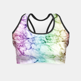 Miniaturka Abstract natural marble texture in rainbow colors Crop Top, Live Heroes