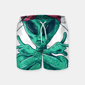 Thumbnail image of Alien Gangster mit Stirnband Badeshorts, Live Heroes