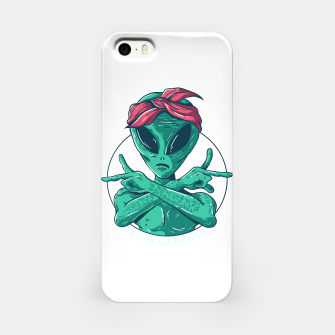 Thumbnail image of Alien Gangster mit Stirnband iPhone-Hülle, Live Heroes