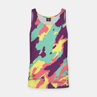 Miniatur Bunt Camouflage Muskelshirt , Live Heroes