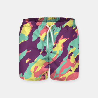 Miniatur Bunt Camouflage Badeshorts, Live Heroes