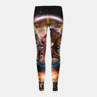 Thumbnail image of Empress Arzriani Art Nouveau Scifi Fractal Portrait Girl's leggings, Live Heroes