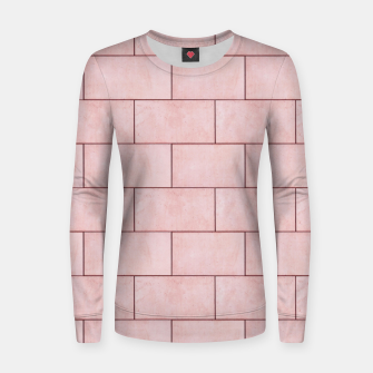 Thumbnail image of Blush Brick Imperfection Women sweater, Live Heroes