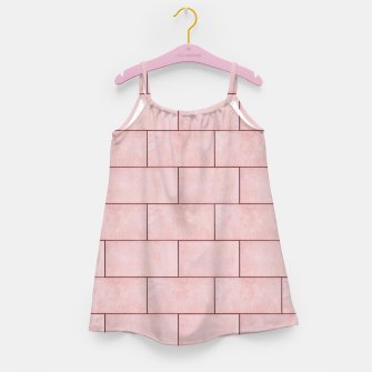 Thumbnail image of Blush Brick Imperfection Girl's dress, Live Heroes