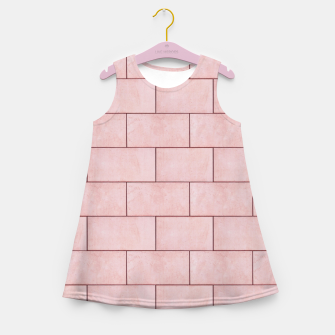 Thumbnail image of Blush Brick Imperfection Girl's summer dress, Live Heroes