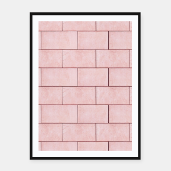 Thumbnail image of Blush Brick Imperfection Framed poster, Live Heroes