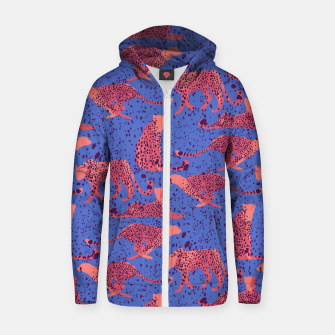 Miniatur Exotic Cheetah Zip up hoodie, Live Heroes