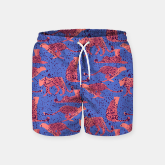 Miniatur Exotic Cheetah Swim Shorts, Live Heroes