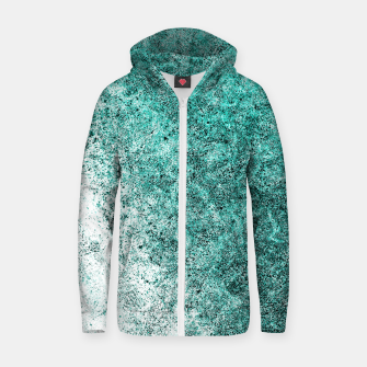 Thumbnail image of Sea Greenness Zip up hoodie, Live Heroes