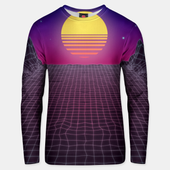 Thumbnail image of Synthwave Sunset Unisex sweater, Live Heroes