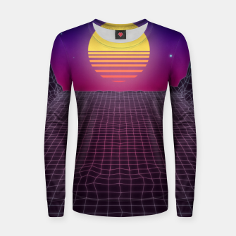 Thumbnail image of Synthwave Sunset Women sweater, Live Heroes