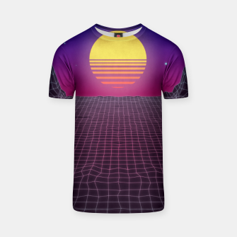 Thumbnail image of Synthwave Sunset T-shirt, Live Heroes