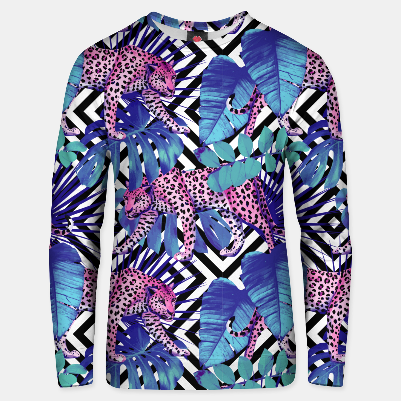 Image of Tropical Leopards Unisex sweater - Live Heroes