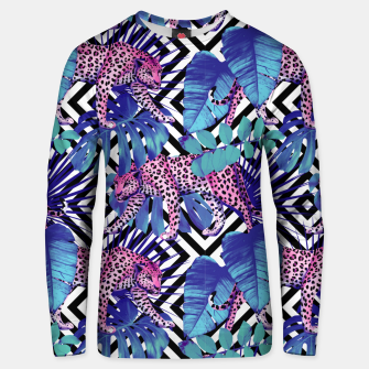 Thumbnail image of Tropical Leopards Unisex sweater, Live Heroes